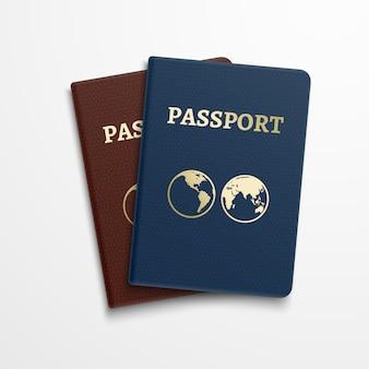 Documento de identificação internacional de passaportes. viajando