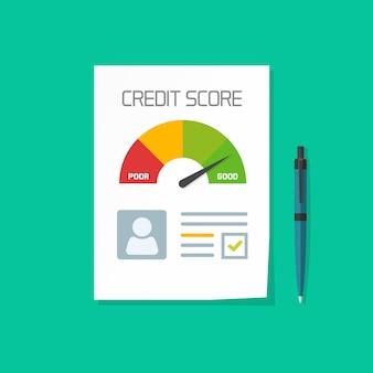 Documento de pontuação de crédito