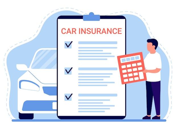 Documento de reclamação de seguro automóvel