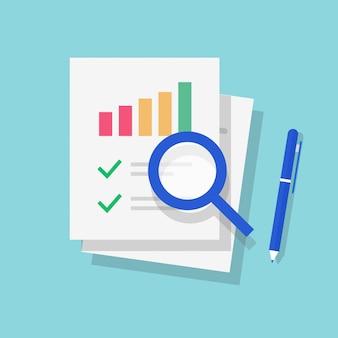 Documento de relatório de auditoria tributária