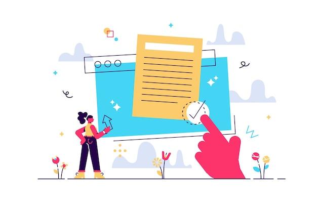 Documento digital de contrato de usuário para proteção legal