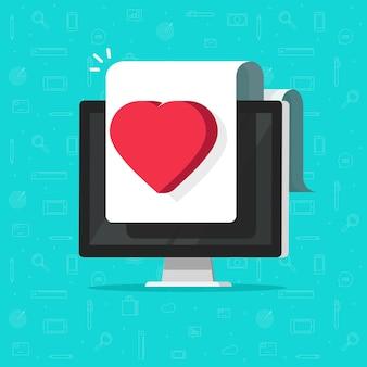 Documento digital médico de saúde online na tela do computador