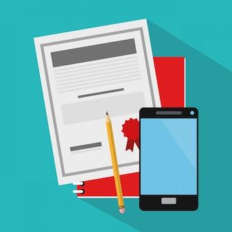 Documento e smartphone