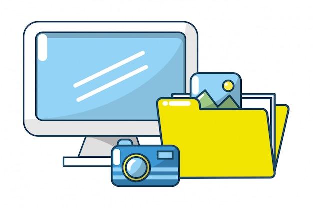 Documentos de pastas digitais de tecnologia