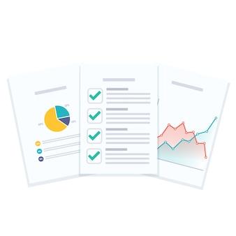 Documentos do relatório de negócios