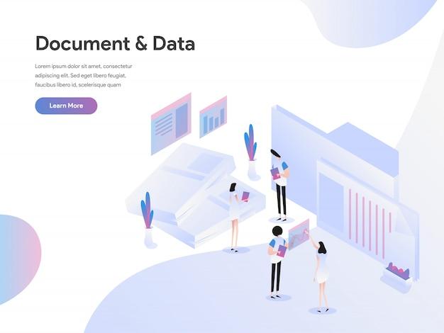 Documentos e conceito de ilustração de dados