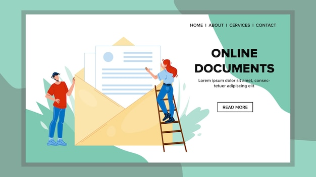 Documentos online enviam carta em envelope