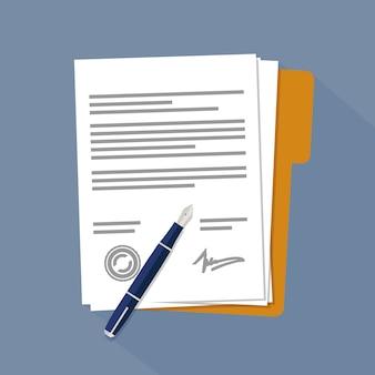 Documentos ou papéis contratuais