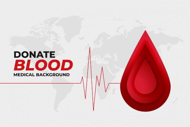 Doe cuidados médicos com sangue e design promocional médico