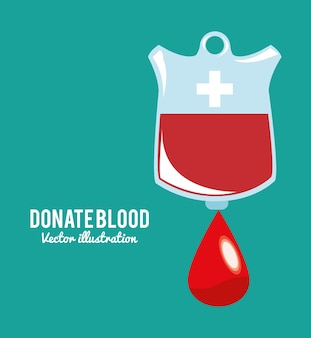 Doe o símbolo do saco de sangue