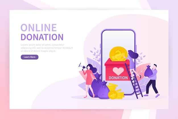 Doe um excelente design on-line para qualquer finalidade. conceito de caridade banner web verde abstrato