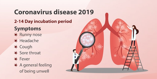 Doença de coronavírus (covid-19). conceito de consulta médica.