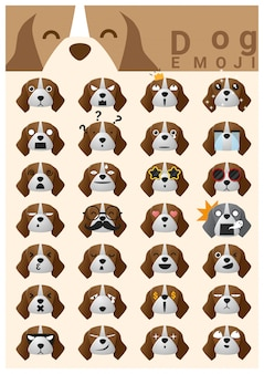 Dog emoji icons
