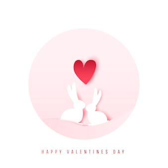 Dois adoráveis coelhos dos desenhos animados