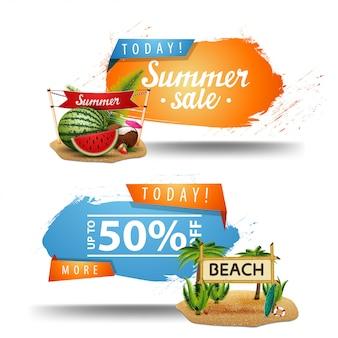 Dois banners clicáveis de venda de verão