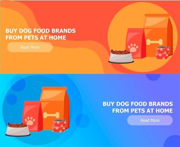 Dois banners para alimentação animal