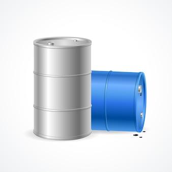 Dois barris de petróleo, uma gota de petróleo.