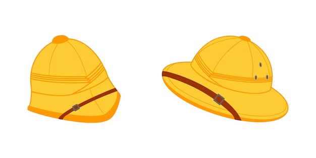 Dois capacetes de medula para turistas, caçadores e exploradores, chapéus de sol safari