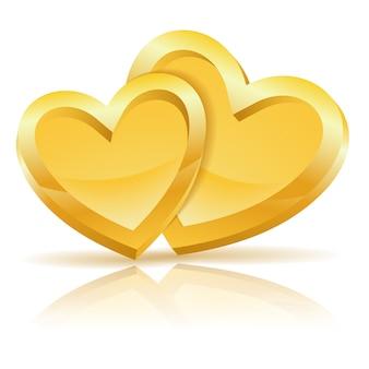 Dois corações de ouro