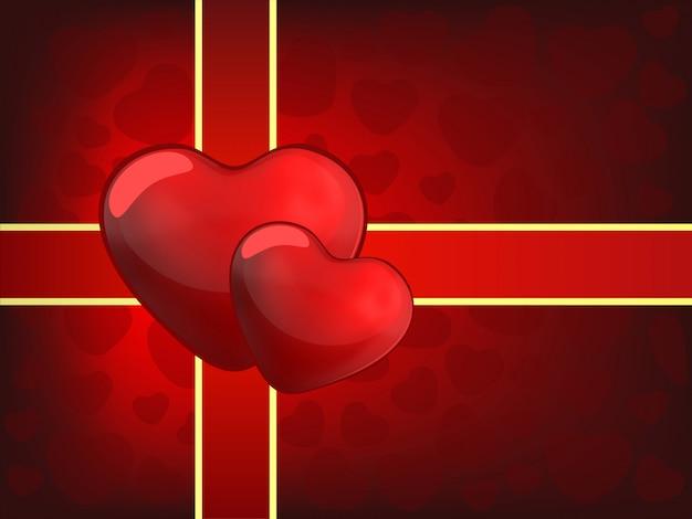 Dois corações para o dia dos namorados