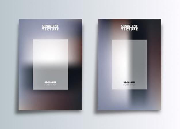 Dois design de modelo de capa de gradiente para flyer