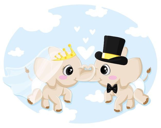Dois elefantes apaixonados