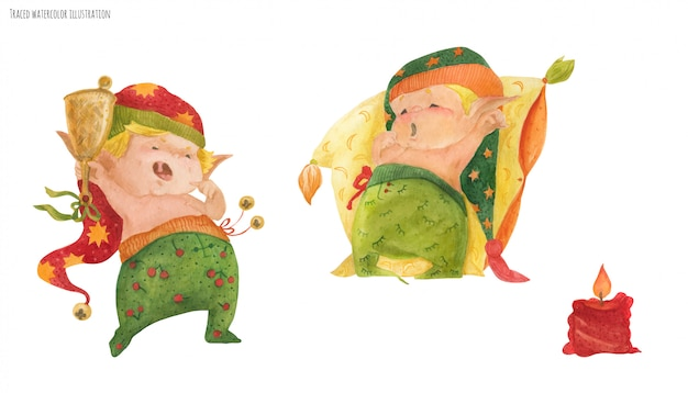 Dois elfos para boa noite e bom dia