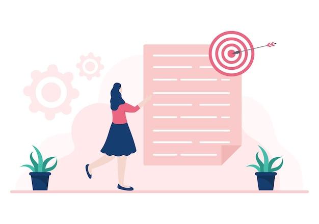 Dois empresários chegam a um acordo ou acordo firmando um contrato de cooperação como parceiros de sucesso. ilustração em vetor de fundo