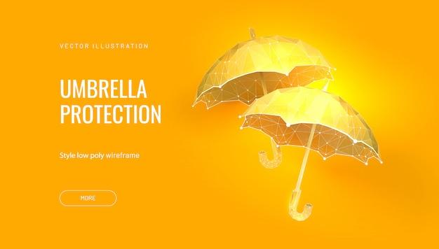 Dois guarda-chuvas. conceito de banner para carnaval ou baile ou festival veneziano