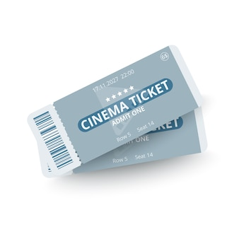 Dois ingressos de cinema isolados