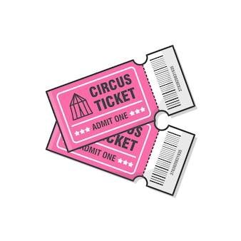 Dois ingressos de circo.