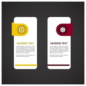 Dois passos gráficos da informação pode ilustrar uma estratégia ou um fluxo de trabalho