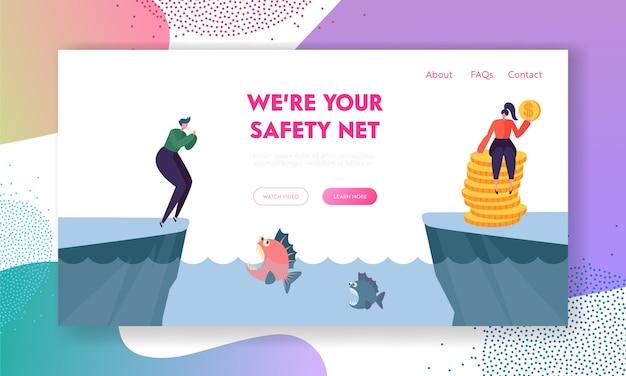Dois personagens estão em diferentes costas da lagoa com a piranha esperando a vítima na água.