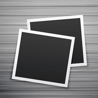Dois quadros de fotos vetor de pilha