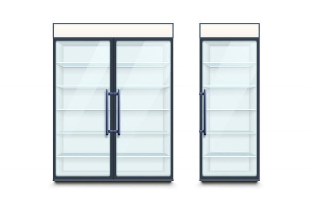 Dois refrigeradores comerciais