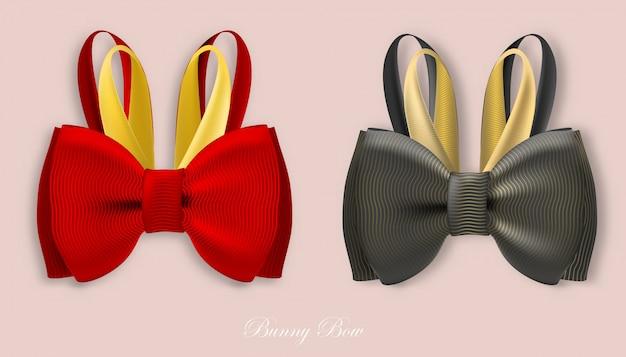 Dom coelho seda arcos vermelho e preto