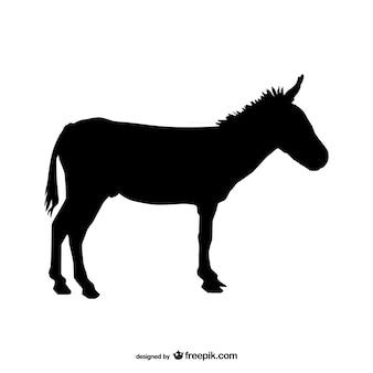 Donkey silhueta