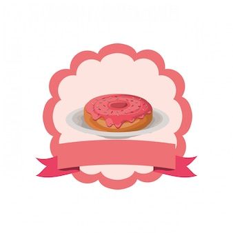 Donut de padaria fresco e delicioso