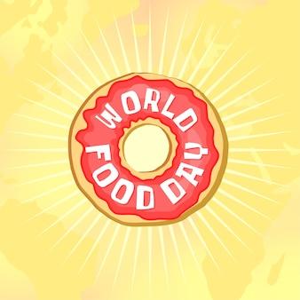 Donut do dia mundial da comida