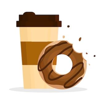 Donut e café