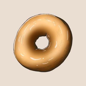 Donut vintage recém-assado