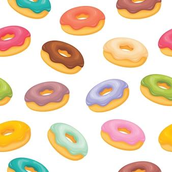 Donuts com padrão de coberturas diferentes