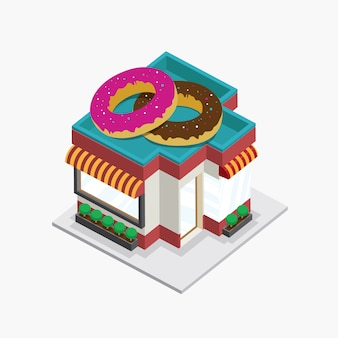 Donuts construindo isométrico