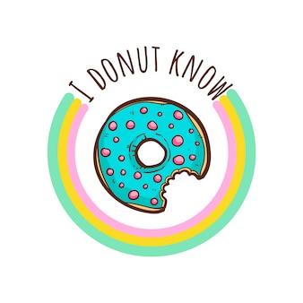 Donuts t-shirt cita ilustração vetorial