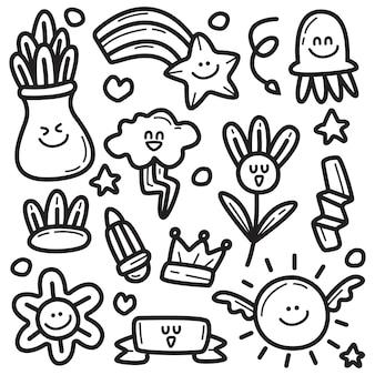 Doodle abstrato de desenho animado