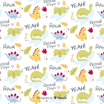 Doodle animal e padrão de palavras