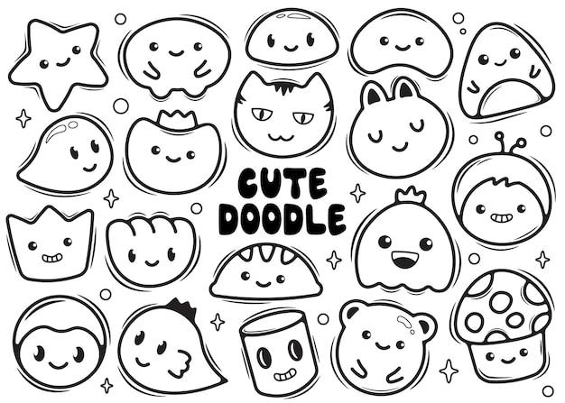 Doodle bonito desenhado à mão