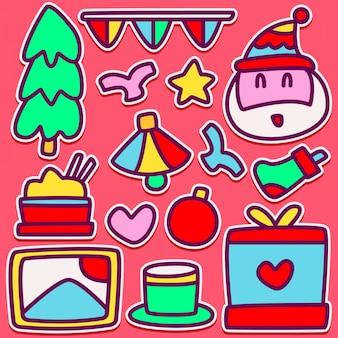 Doodle bonito design ilustração