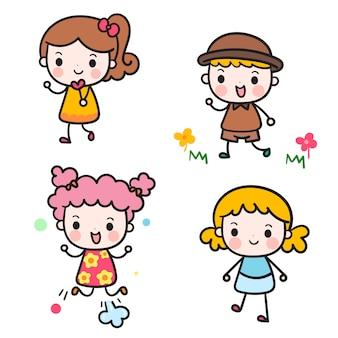 Doodle coleção de crianças