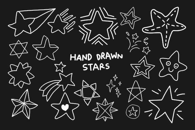 Doodle conjunto de estrelas